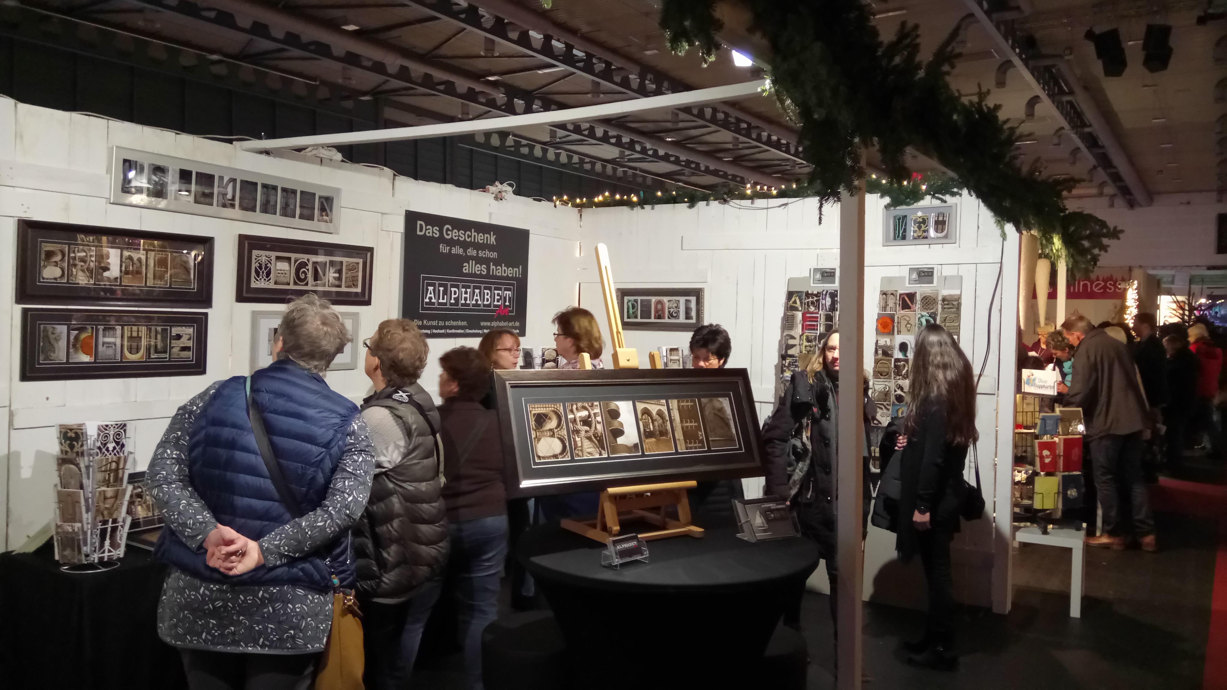 Alphabet-Art auf der Christmas and more 2017