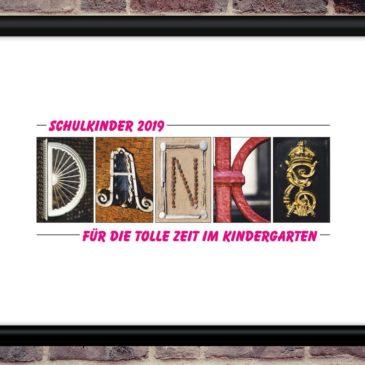DANKE Poster als Abschiedsgeschenk für den Kindergarten, Kindergrippe schon ab 19,- EUR